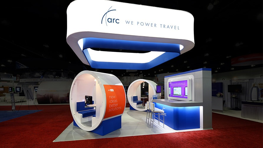 Custom trade show design and display for ARC at the GBTA by Creatacor, serving the world from Clifton Park New York NY