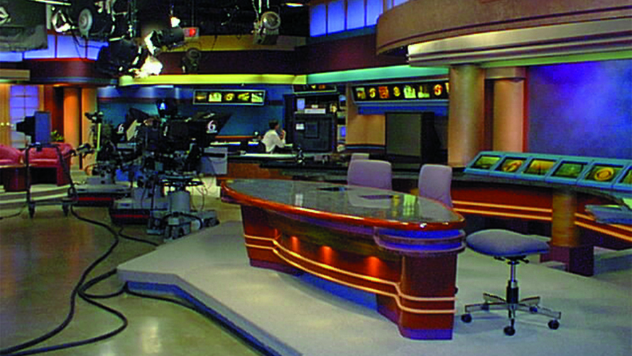 Specialty Fabrication - Custom counters for WRGB news set