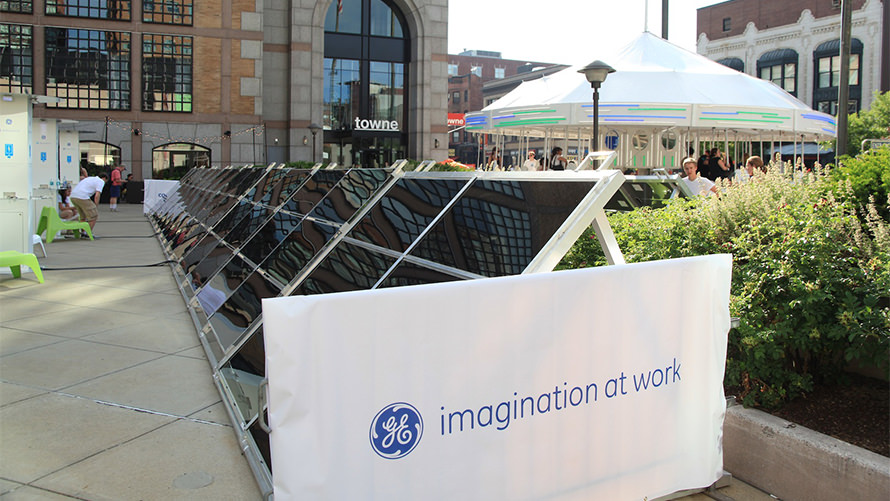 Custom event specialty fabrication for GE Power