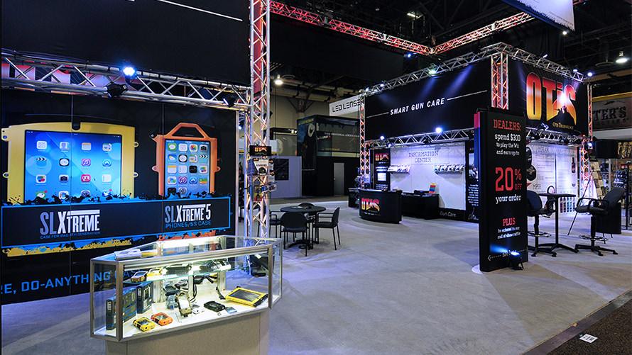OTIS-Shot Show custom trade show program with rentals and custom fab