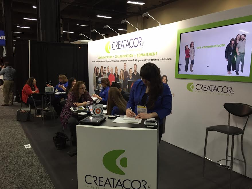 Creatacor, building trade show displays for the world from Clifton Park NY (New York) at EXHIBITORLIVE! 2015