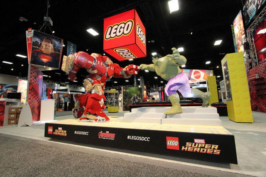 The LEGO trade show exhibit for Comic-Con 2015