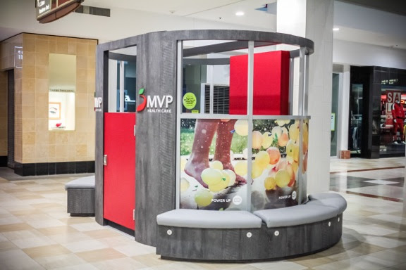 MVP kiosk in Colonie Center