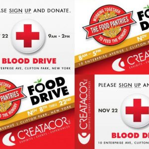 The Big Day – Our Food & Blood Drives – November 22nd