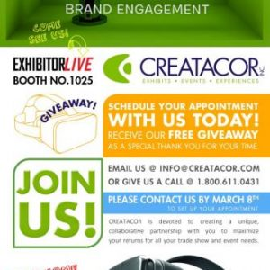 Visit Creatacor at EXHIBITORLIVE