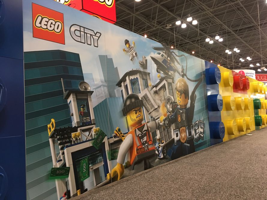 City Lego picture on wall
