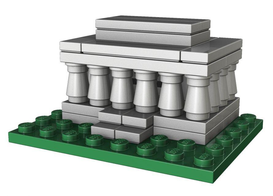 LEGO Americana Roadshow Make & Take kit - The Lincoln Memorial