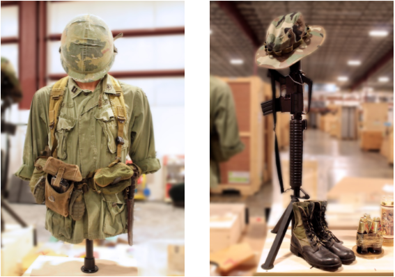 The Wall That Heals - military uniforms