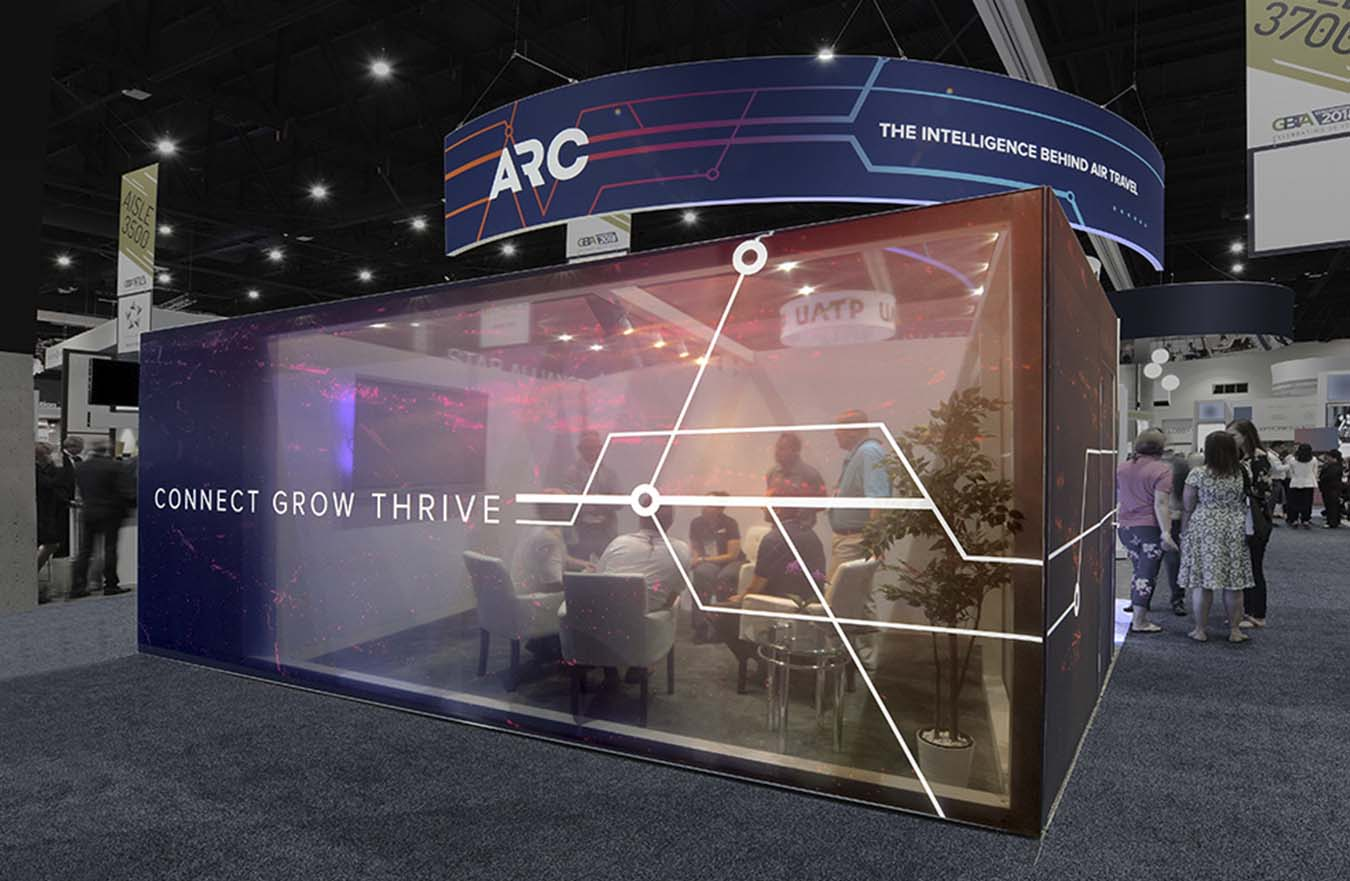 Transparent Wall in Trade Show Booth