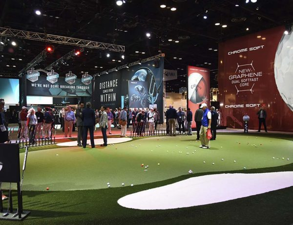 Golf Trade Show Booth with Putting Green