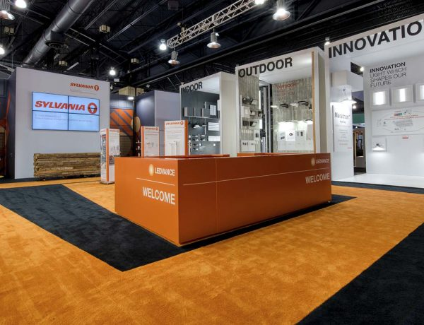Orange and Black Trade Show Display