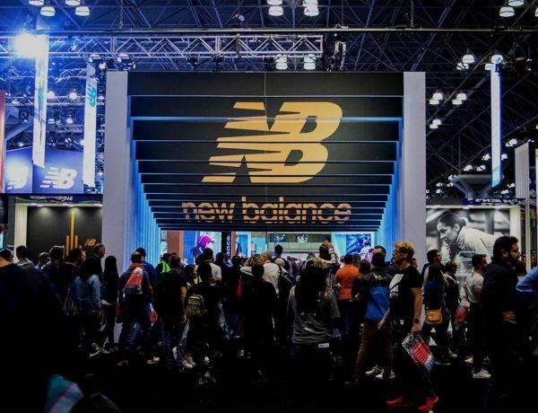 new balance display with large crowd