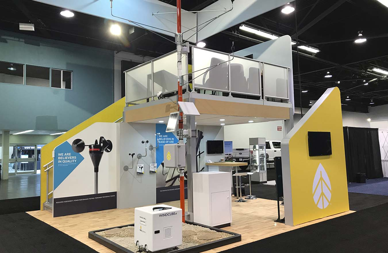 2 story trade show display