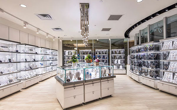 Permanent Retail Displays with Jewelry