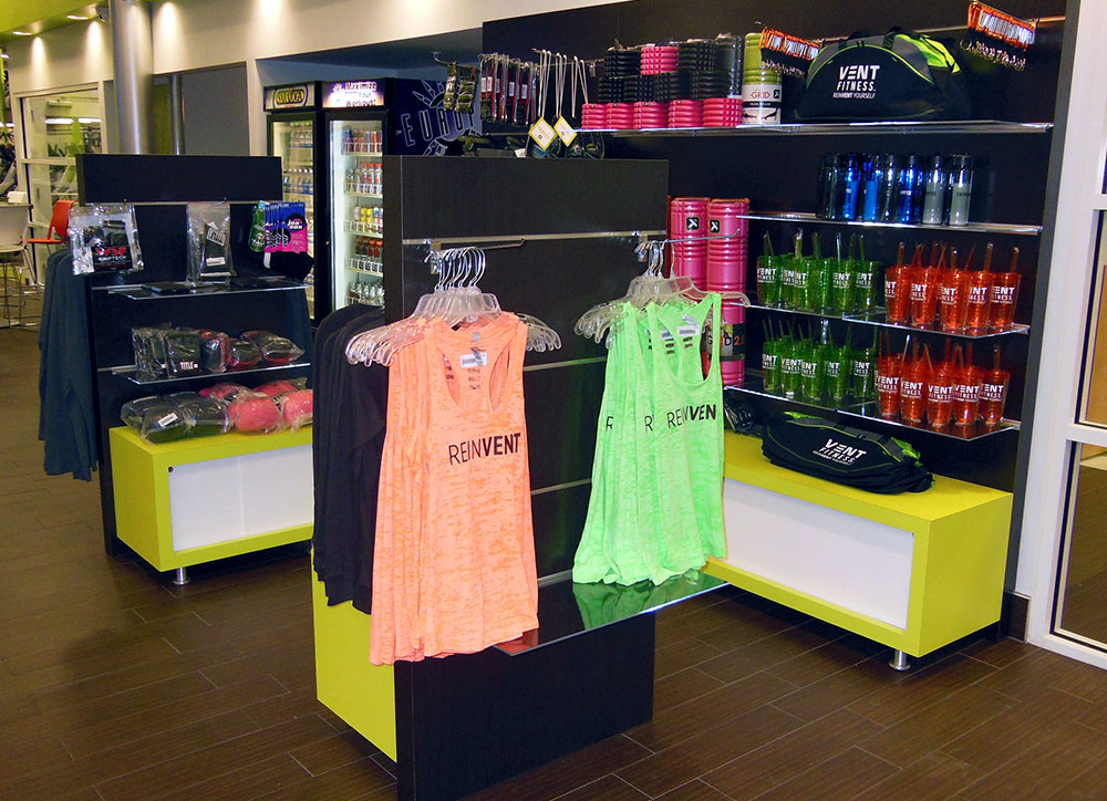 Vent Fitness Retail Displays