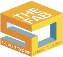 THE FAB, The Indutstry's Top 50 Exhibit Builders logo
