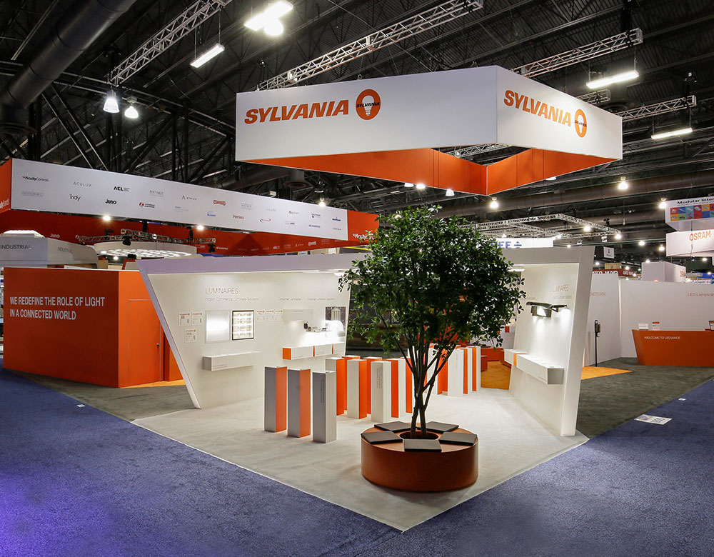 Trade Show Booth for Sylvania