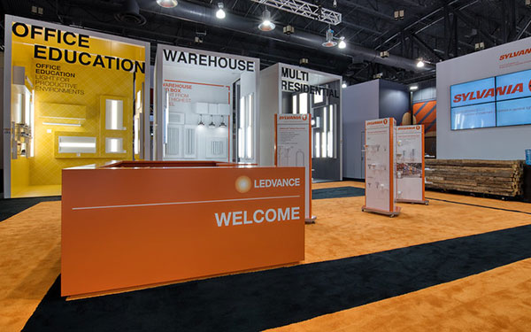 Welcome Desk in the Ledvance Booth