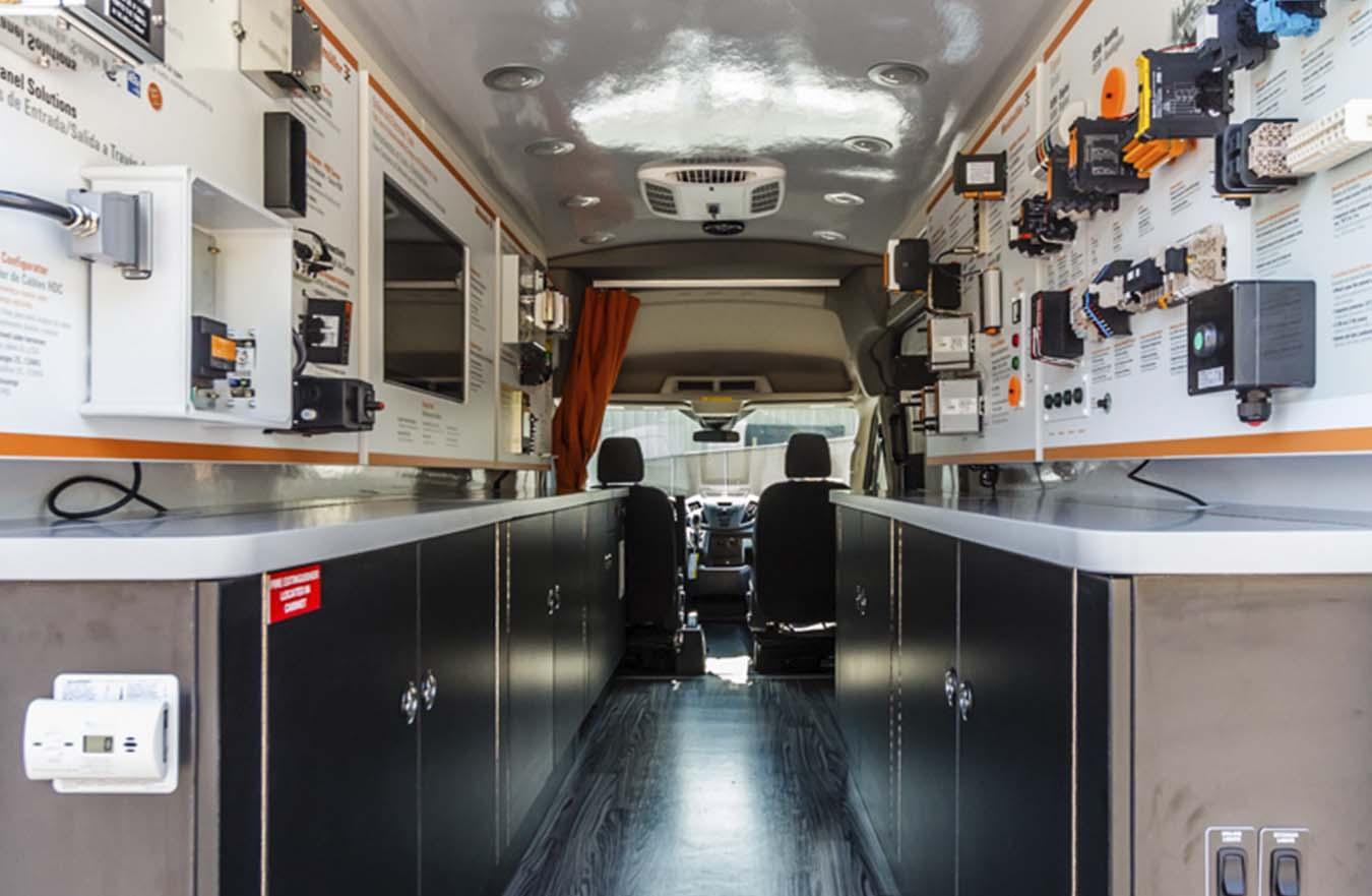 inside of custom van