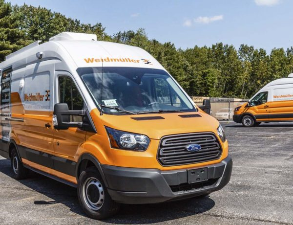 Commercial Van with Custom Graphics