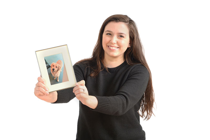 Heather Didonato holding picture