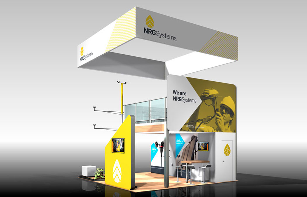 NRG Systems trade show booth rendering
