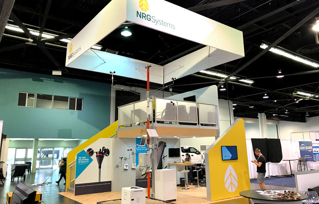 NRG Systems trade show booth