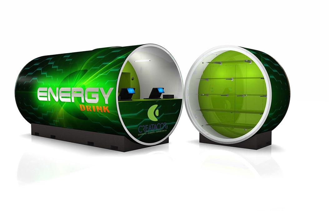 Energy drink mock up retail tube