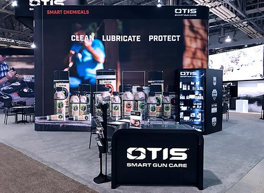otis smart gun care trade show exhibit