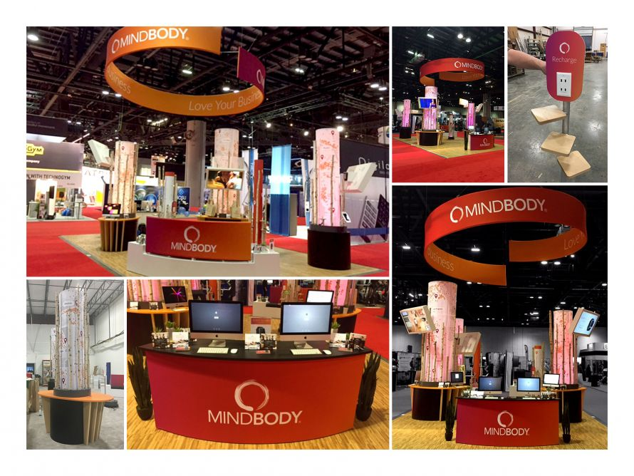 mindbody trade show display