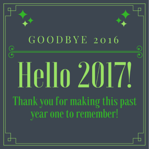 hello 2017 graphic