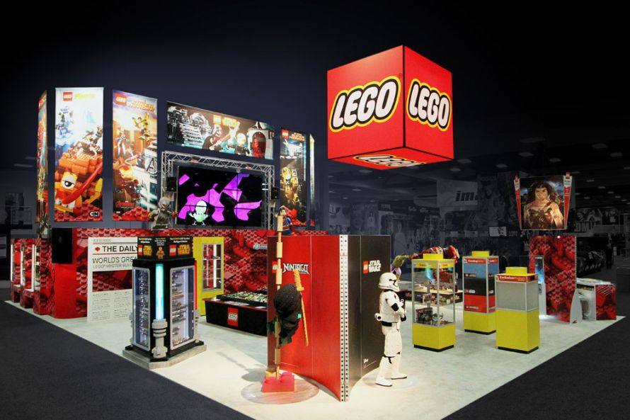 lego trade show exhibit space