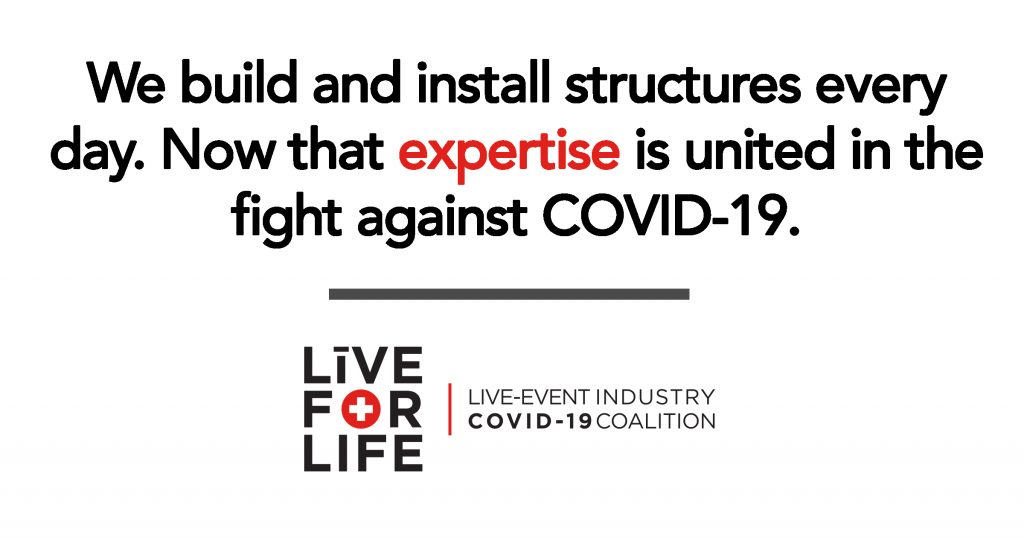 COVID-19 - We build and install structures - Live For Life
