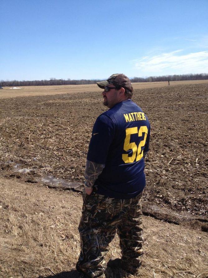 chuck packer in a field