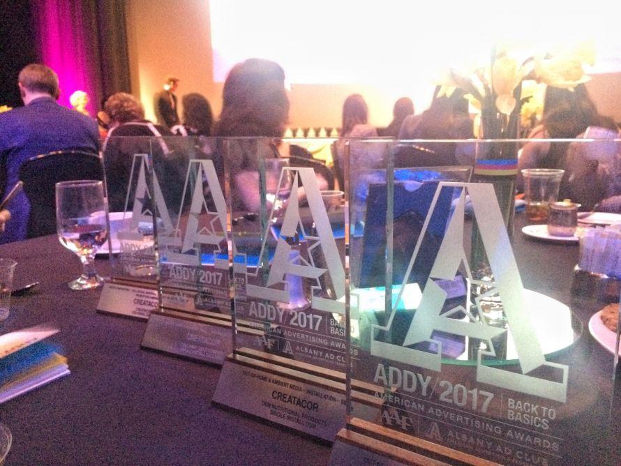 2017 addy award trophies