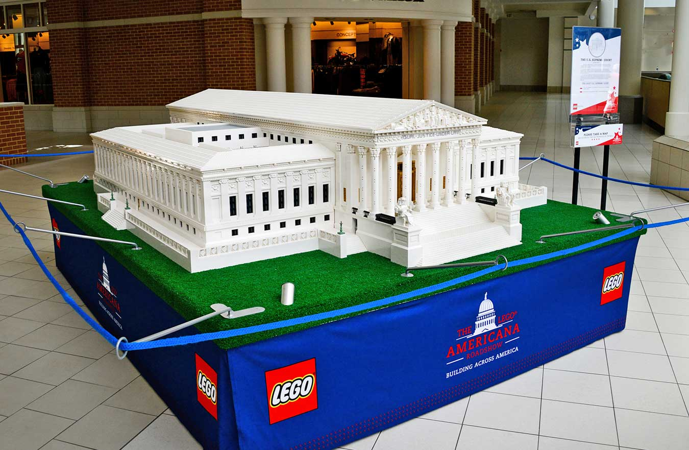 LEGO Americana Roadshow Supreme Court Building
