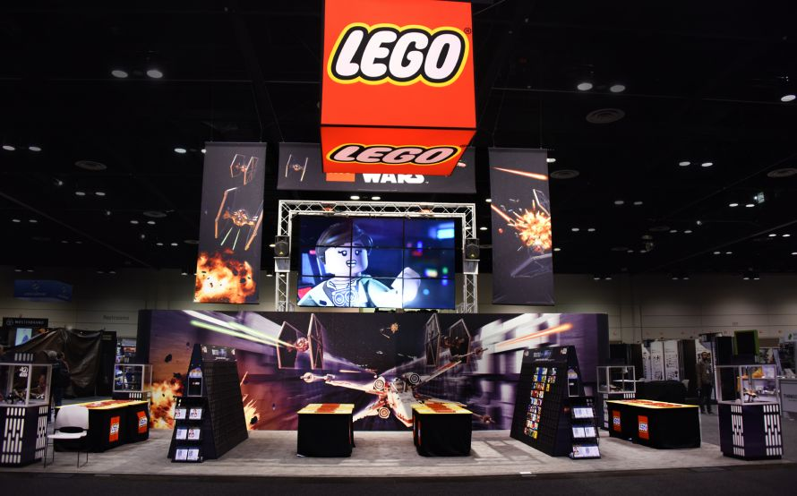 lego star wars tradeshow display