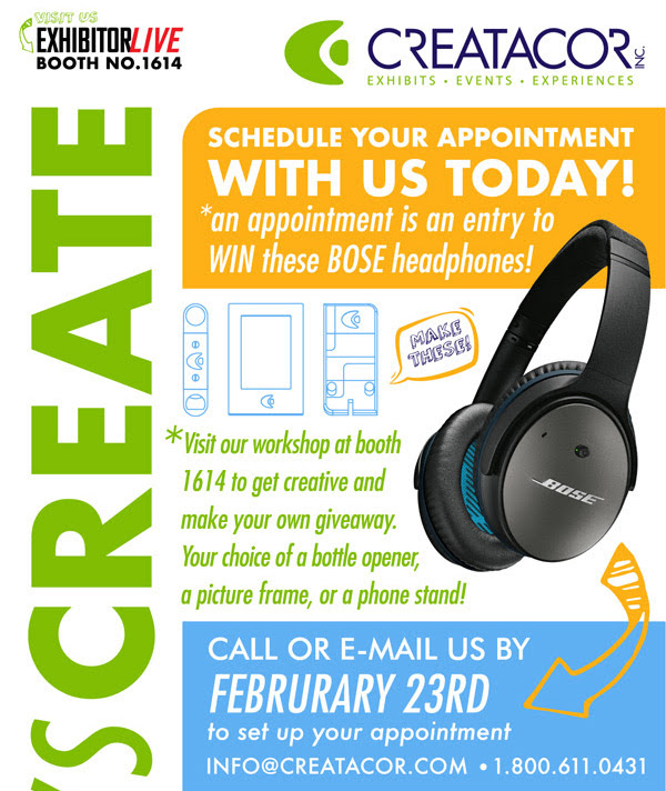 creatacor exhibitorlive advertisment