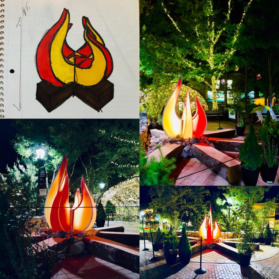 campfire display concept and final products