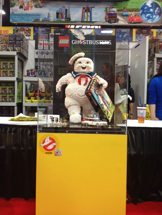 lego ghostbusters tradeshow exhibit