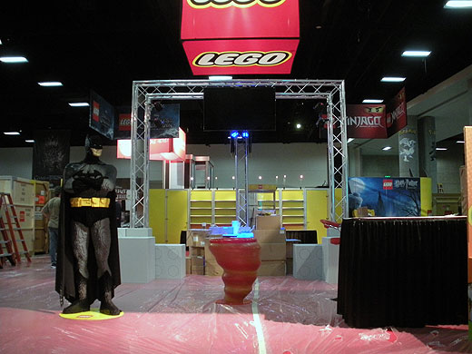 lego batman tradeshow exhibit pieces