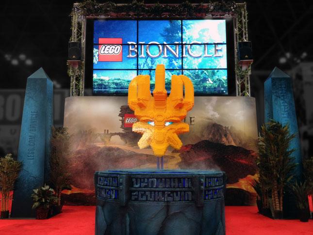lego bionicle tradeshow exhibit