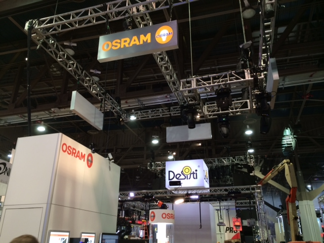osram tradeshow exhibit installation