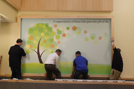tree of life mural installation