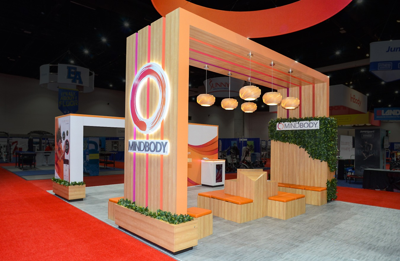 MINDBODY trade show exhibit